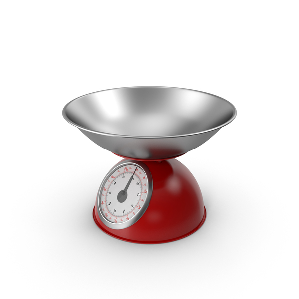 Fixed Red Mechanical Kitchen Scale PNG & PSD Images