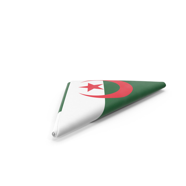 Algerian: Flag Folded Triangle Algeria PNG & PSD Images