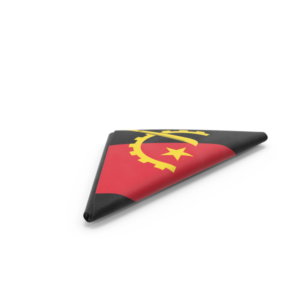 Flag Folded Triangle Angola PNG & PSD Images