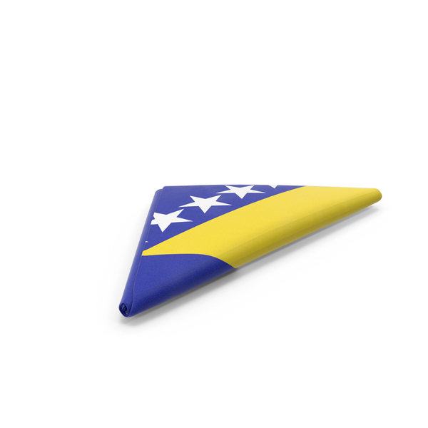 Flag Folded Triangle Bosnia and Herzegovina PNG & PSD Images