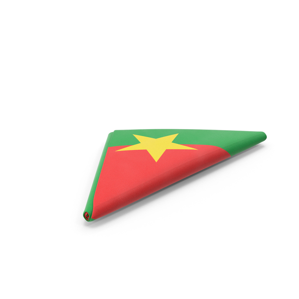 Flag Folded Triangle Burkina Faso PNG & PSD Images