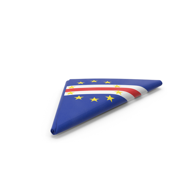 Flag Folded Triangle Cape  Verde PNG & PSD Images