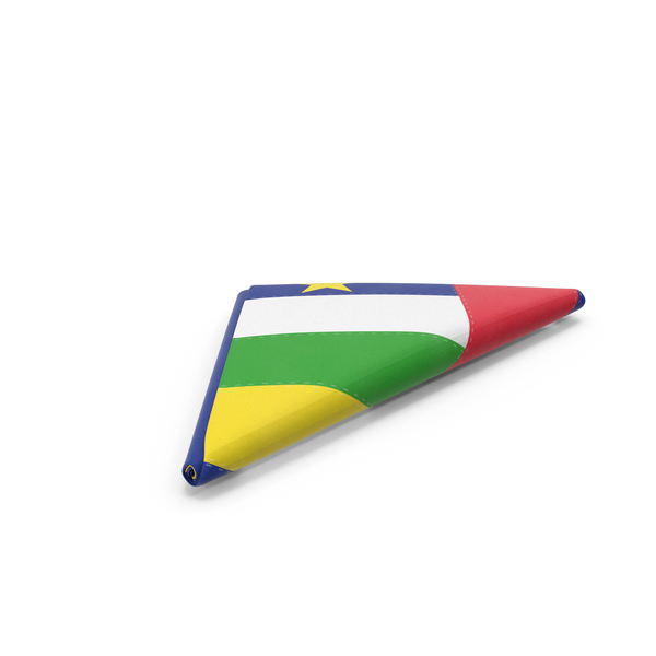 Flag Folded Triangle Central African Republic PNG & PSD Images