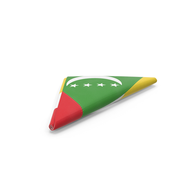 Flag Folded Triangle Comoros PNG & PSD Images