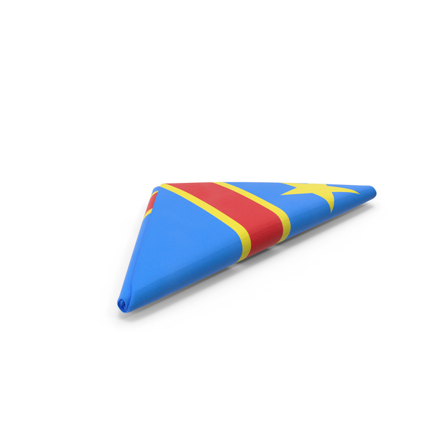 Flag Folded Triangle Democratic Republic of the Congo PNG & PSD Images