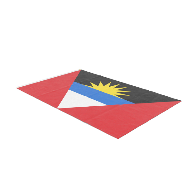 Flag Laying Pose Antigua and Barbuda PNG & PSD Images