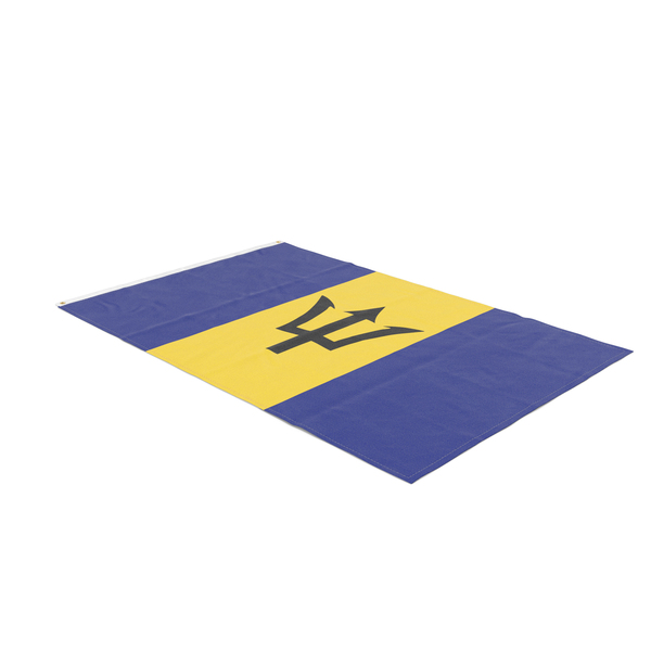Flag Laying Pose Barbados PNG & PSD Images