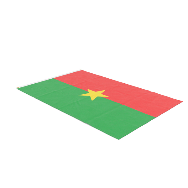Flag Laying Pose Burkina Faso PNG & PSD Images