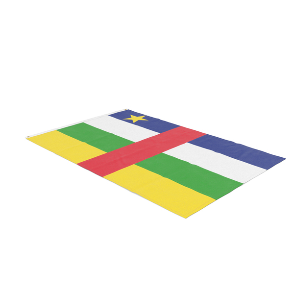 Flag Laying Pose Central African Republic PNG & PSD Images