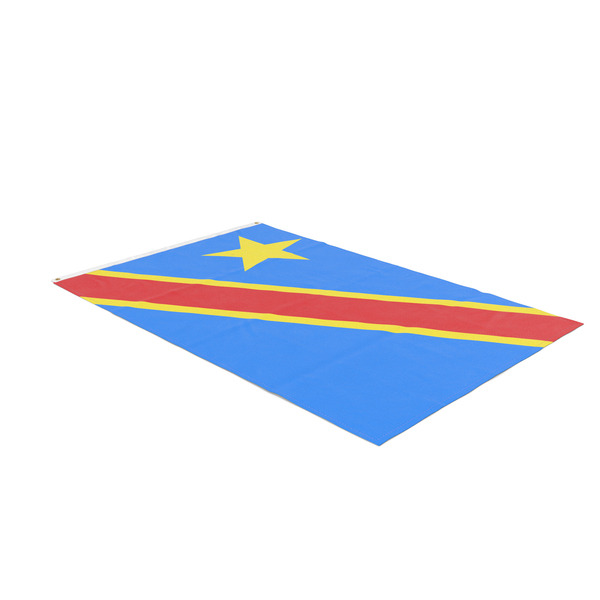 Flag Laying Pose Democratic Republic of the Congo PNG & PSD Images