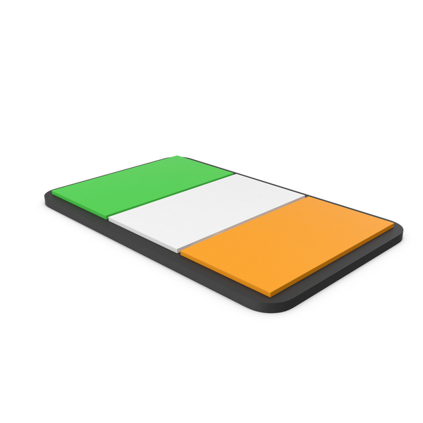 Flag of Ireland PVC Patch PNG & PSD Images