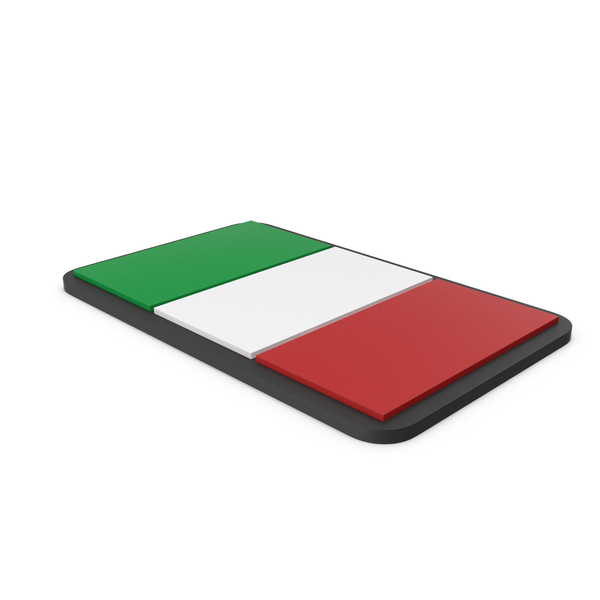 Flag of Italy PVC Patch PNG & PSD Images
