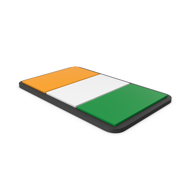 Flag of Ivory Coast PVC Patch PNG & PSD Images