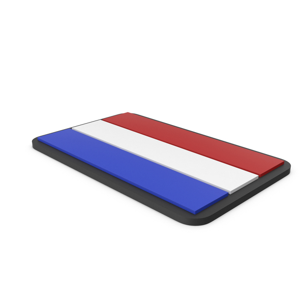 Flag of Netherlands PVC Patch PNG & PSD Images