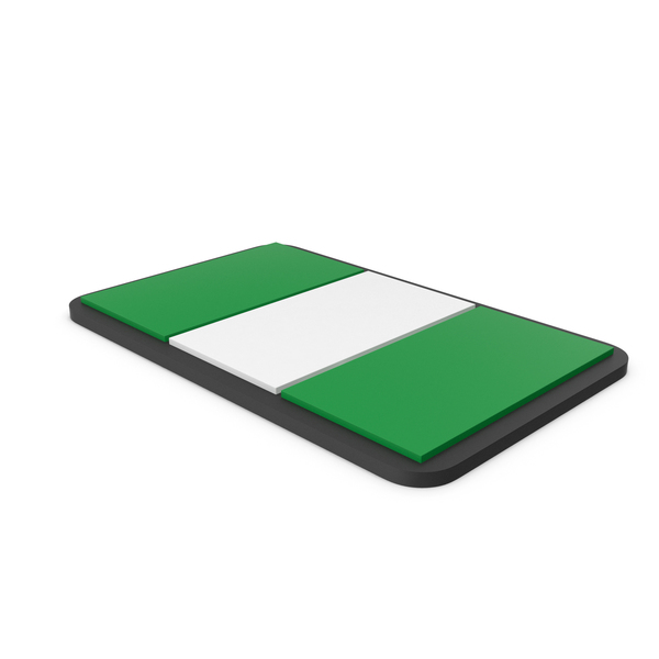 Flag of Nigeria PVC Patch PNG & PSD Images