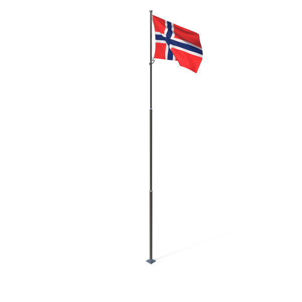 Flagpole: Flag of Norway PNG & PSD Images