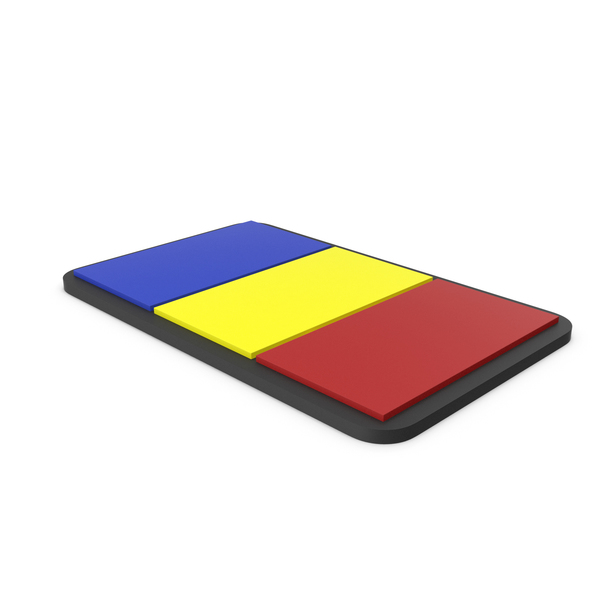 Flag of Romania PVC Patch PNG & PSD Images