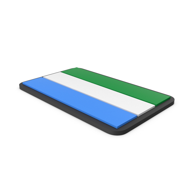 Flag of Sierra Leone PVC Patch PNG & PSD Images