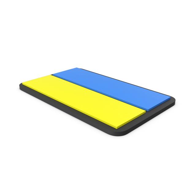 Flag of Ukraine PVC Patch PNG & PSD Images