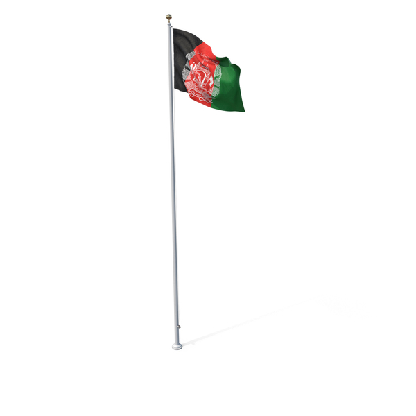 Flag On Pole Afghanistan PNG & PSD Images