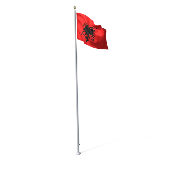 Flag On Pole Albania PNG & PSD Images