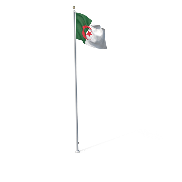 Flag On Pole Algeria PNG & PSD Images