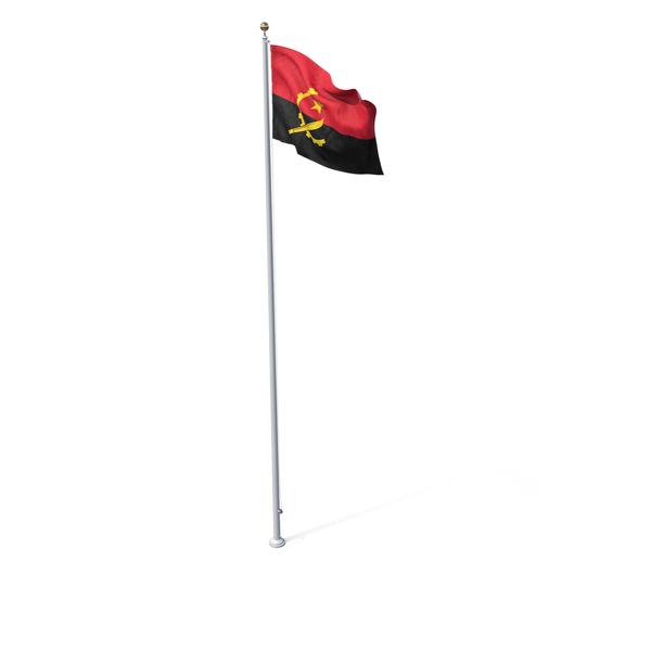 Angolan: Flag On Pole Angola PNG & PSD Images