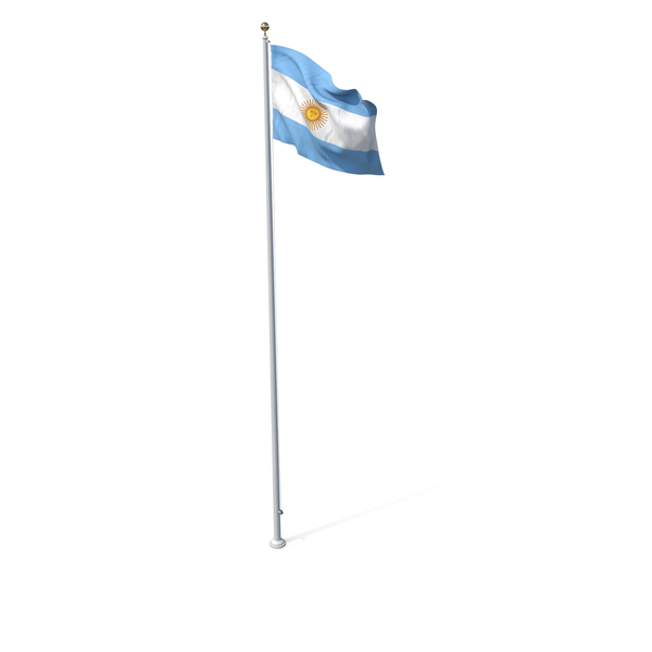 Flag On Pole Argentina PNG & PSD Images