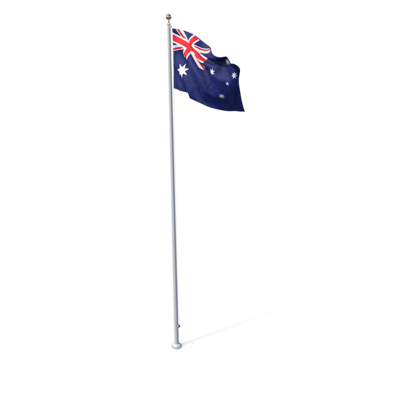 Flag On Pole Australia PNG & PSD Images