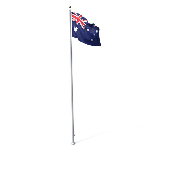 Flag On Pole Australia PNG & PSD Images