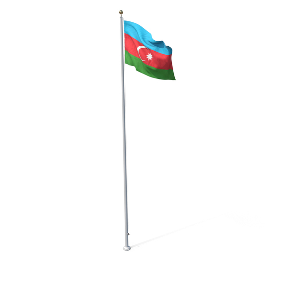 Flag On Pole Azerbaijan PNG & PSD Images