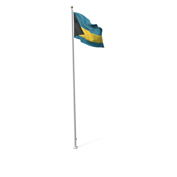 Flag On Pole Bahamas PNG & PSD Images