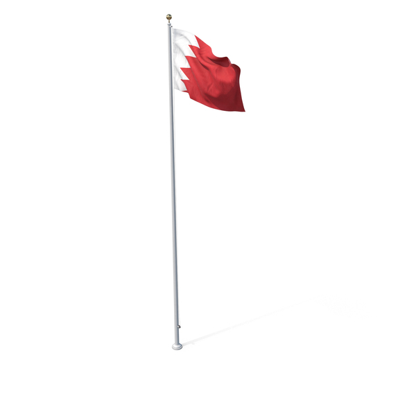 Flag On Pole Bahrain PNG & PSD Images