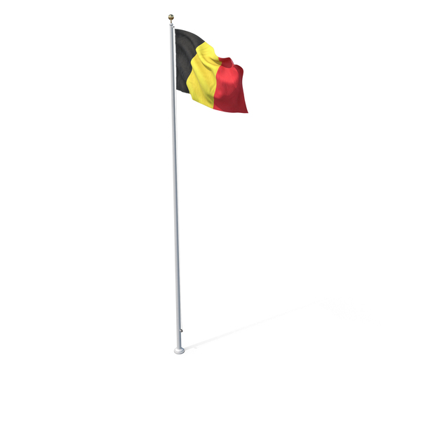Flag On Pole Belgium PNG & PSD Images