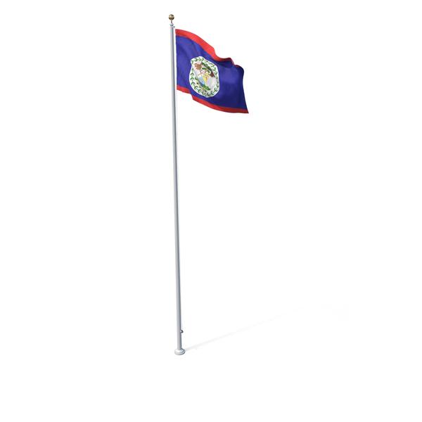 Flag On Pole Belize PNG & PSD Images