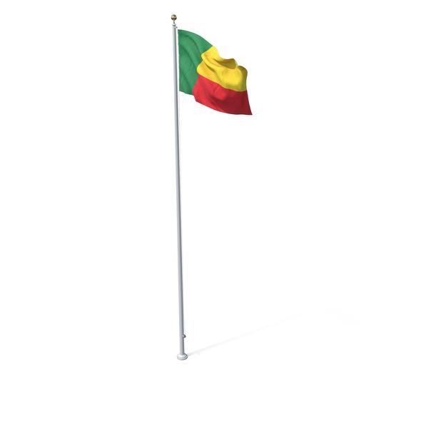 Flag On Pole Benin PNG & PSD Images