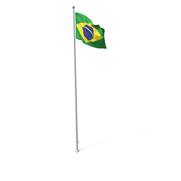 Flag On Pole Brazil PNG & PSD Images