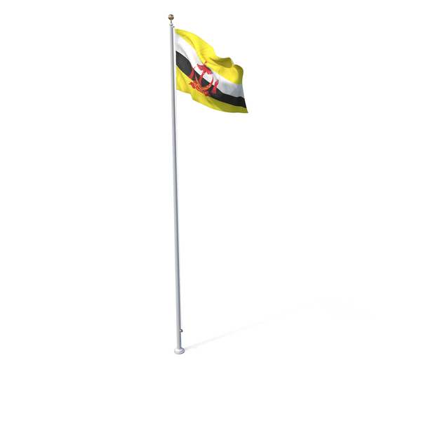 Flag On Pole Brunei PNG & PSD Images