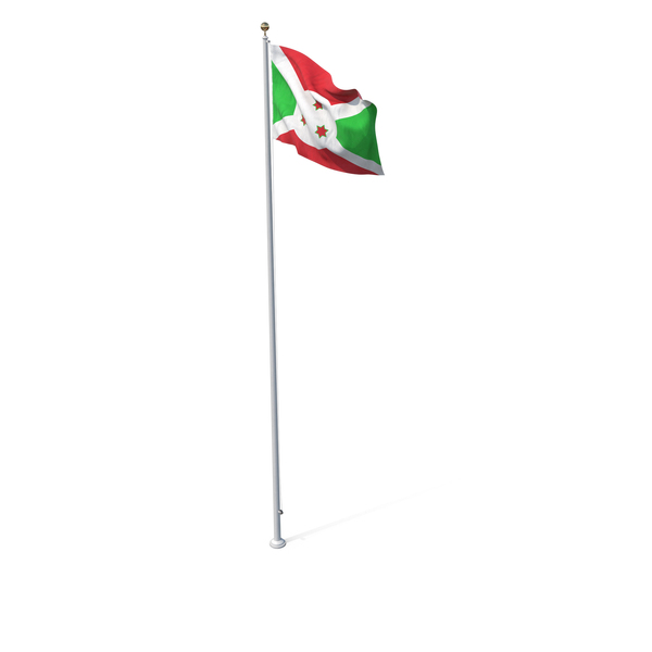Flag On Pole Burundi PNG & PSD Images