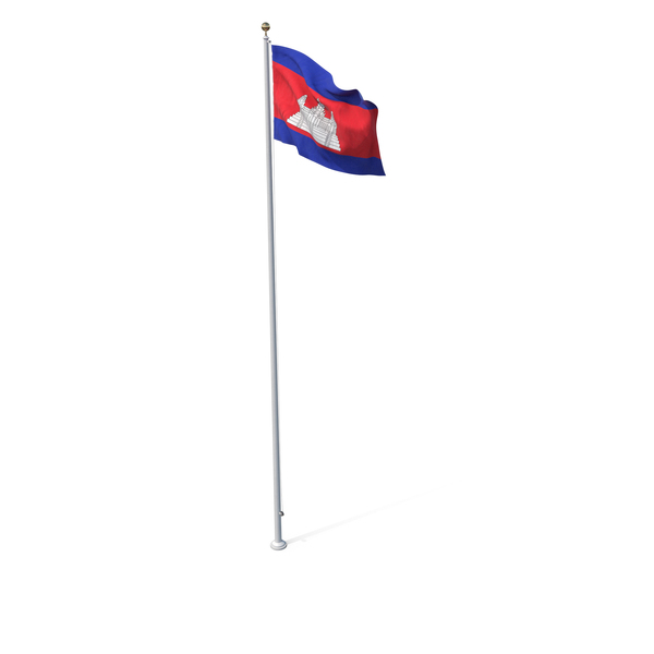 Flag On Pole Cambodia PNG & PSD Images