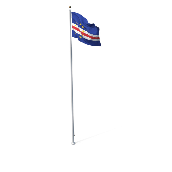 Flag On Pole Cape Verde PNG & PSD Images