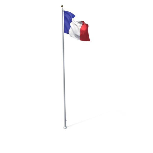 Flag On Pole France PNG & PSD Images