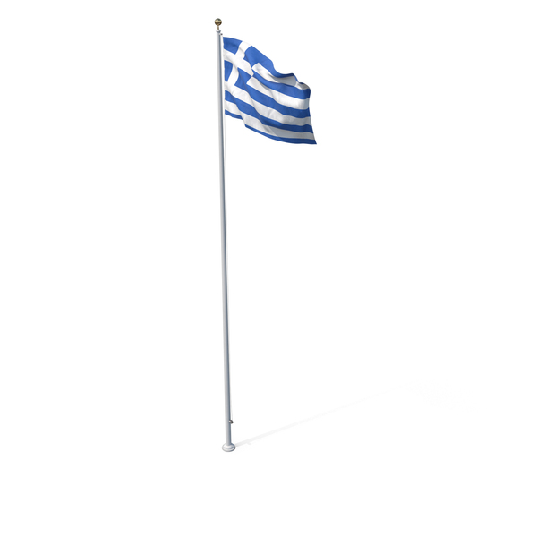 Flag On Pole Greece PNG & PSD Images