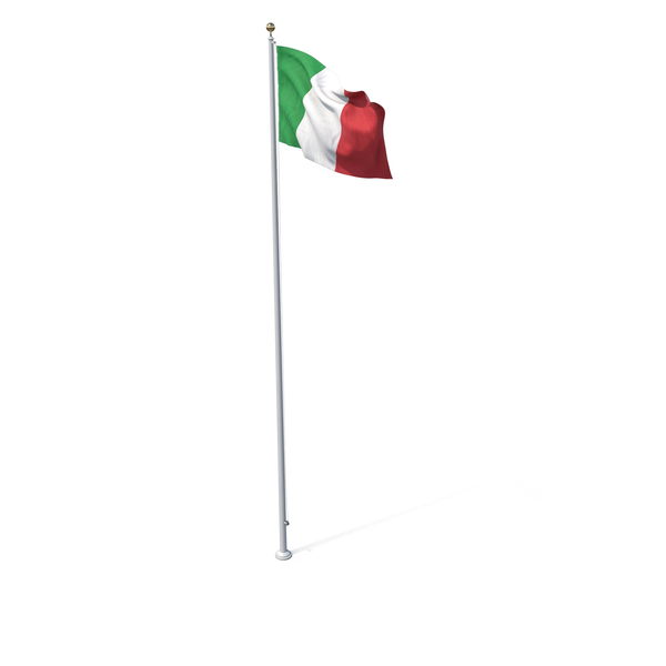 Flag On Pole Italy PNG & PSD Images
