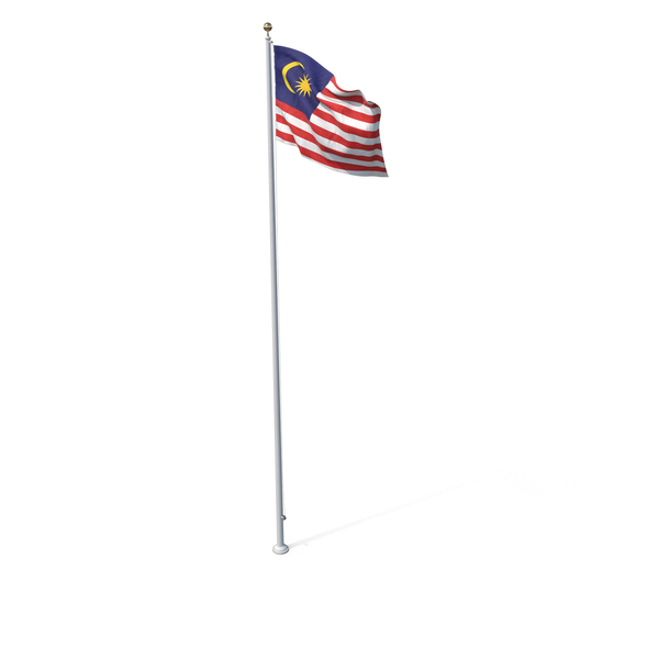 Flag On Pole Malaysia PNG & PSD Images