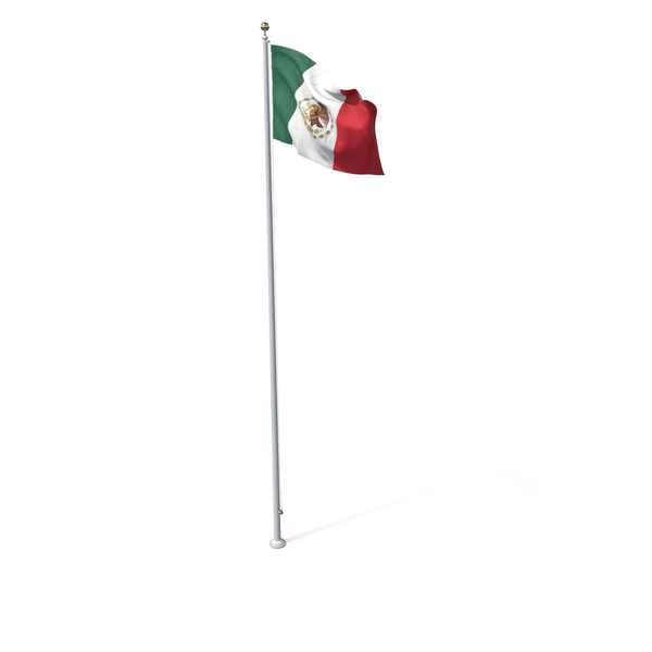 Flag On Pole Mexico PNG & PSD Images