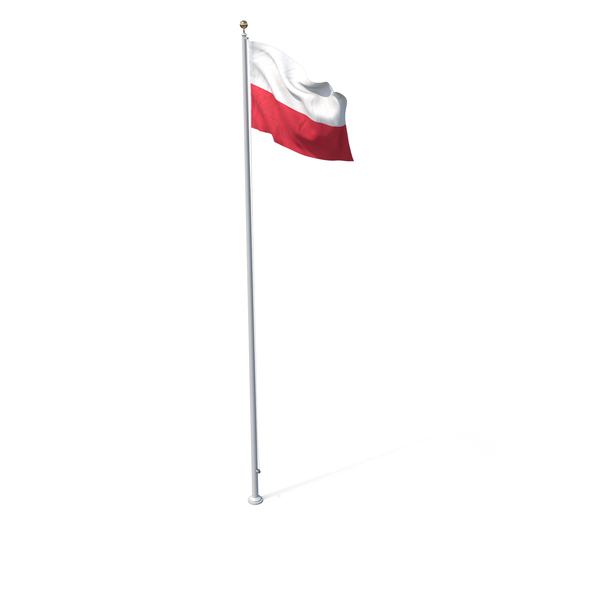 Flag On Pole Poland PNG & PSD Images