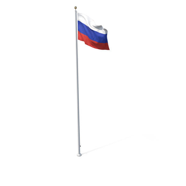 Russian: Flag On Pole Russia PNG & PSD Images