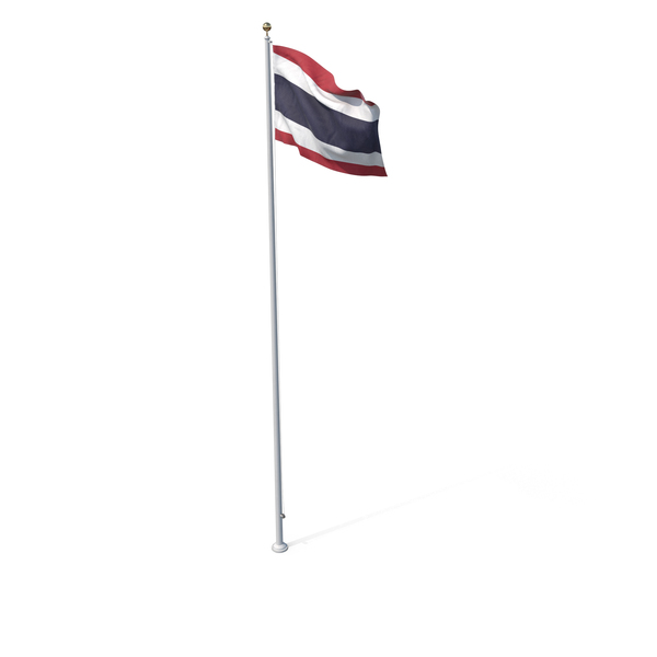 Flag On Pole Thailand PNG & PSD Images