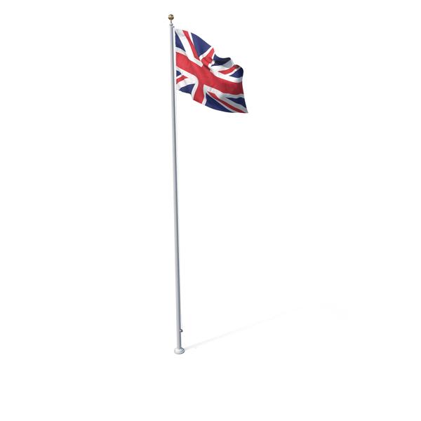 Flag On Pole United Kingdom PNG & PSD Images